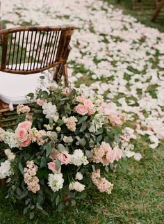 Tropical Maui Wedding from Gina Meola Photography. - love the rose petals on the ceremony aisle.