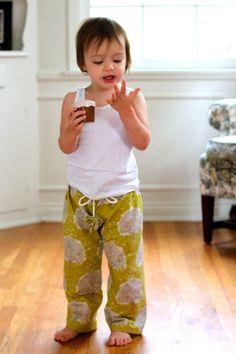 DIY pajama pants tutorial for babies and toddlers