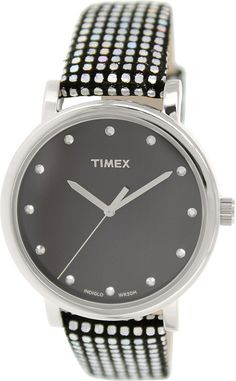 Timex Women's Originals T2P481 Black Leather Quartz Watch * Check this awesome watch by going to the link at the image.