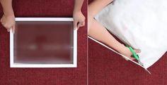 Elle récupère un cadre et un oreiller! Elle en fait un accessoire pratique en un rien de temps! - Bricolages - Trucs et Bricolages