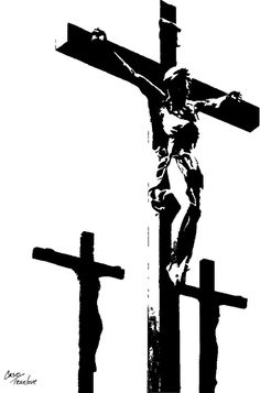 My Lord and my God. I kneel in homage to your suffering. Christian Drawings, Christian Artwork, Religious Tattoos, Religious Art, Christo Art, Christus Tattoo, Crucifix Tattoo, Jesus Drawings, Dark Art Illustrations