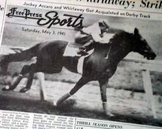 Whirlaway Racehorse | Details about Whirlaway KENTUCKY DERBY Horse Racing Triple Crown 1941 ...