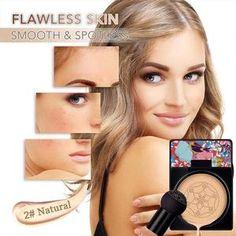 Pilzkopf Luftkissen CC Creme – WunderWild Cc Cream, Cakey Makeup, Unique Makeup, Uneven Skin Tone, Younger Looking Skin, Skin Elasticity, Tips Belleza, Flawless Skin, Makeup Foundation