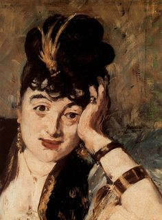 MANET, Edouard French Realist-Impressionist (French; 1832-1883)_Woman with Fans 1873 detail