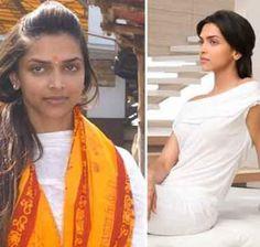 Deepika Padukone - without + with make-up