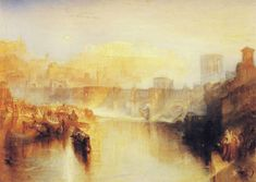 One of my favorite paintings: Joseph Mallord William Turner - Ancient Rome; Agrippina Landing with the Ashes of Germanicus exhibited 1839 Joseph Mallord William Turner, National Gallery Of Art, Art Gallery, Covent Garden, Mark Rothko, Claude Monet, Frise Art, Art Romantique, Turner Watercolors