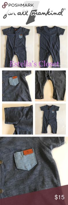 7 for All Mankind onesie soze 3/6m (boys) condition: Brand new with tag color: light navy size: 3/6m (boys) brand: 7 for All Mankind  perfect for your everyday outfit!! 7 For All Mankind One Pieces Bodysuits