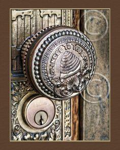 Bee Hive Brass Door Knobs  Salt Lake City LDS by RememberToday, $25.00