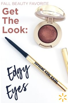 This fall eyes are edgy and EASY! Bye, bye perfect placement. Edgy Eyes is all about a smudge, a smear and loads of rocker girl-inspired mascara. The vibe is very 'woke-up-like-this' with an edge. Stock up on your favorite beauty products at Walmart and try this look for yourself.