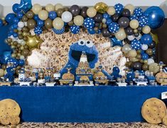 Monster 1st Birthdays, Monster Birthday Parties, First Birthday Parties, Birthday Party Themes, First Birthdays, Monster Balloons, Monster Baby Showers, Cookie Monster Party, Birthday Cookies