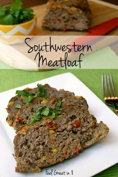 This delicious, healthy Southwestern Meatloaf is easy to throw together, is packed with extra veggies and will definitely be a family favorite dinner!
