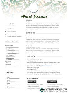Free Microsoft Word 'Cursive' CV template in docx format - CV Template Master
