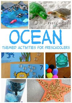 Some of the best preschool ocean activities out there! Includes ocean songs, books, math activities, STEM, and sensory play! Preschool Books, Preschool Themes, Preschool Science, Kid Science, Preschool Classroom, Physical Science, Science Education, Ocean Activities, Toddler Activities