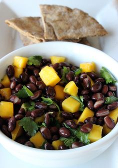 Try this yummy mango and black been salad to add a little extra flavor and excitement to the week ahead.