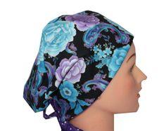 Medical Scrub Hat Surgical Cap Chemo Vet Nurse Dr Cancer Hat European Pixie  Style Purple Lilac 660c720cff2c