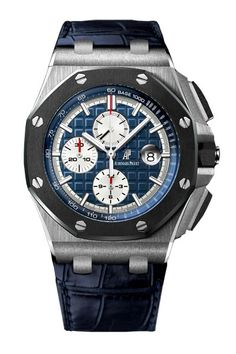Audemars Piguet Royal Oak Offshore Chronograph Blue Dial Leather Men's Watch 26401PO.00.A018CR.01