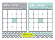 INSTANT UPLOAD  Bridal Shower Game  Bridal Bingo by PaperEtiquette, $7.50