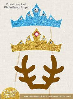 Frozen Inspired Birthday Photo Booth Props.  And who doesn't like some fun photo booth props at a party. ~ Enjoy