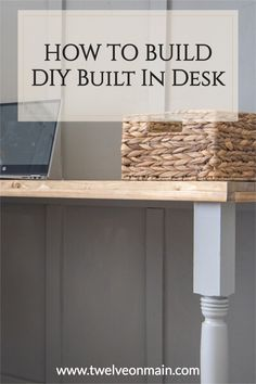 We built this built in desk for next to nothing and it was super easy too! Diy Furniture Projects, Diy Home Decor Projects, Cool Diy Projects, Furniture Makeover, Project Ideas, Floating Corner Desk, Modern Crafts, Built In Desk, Wood Stain