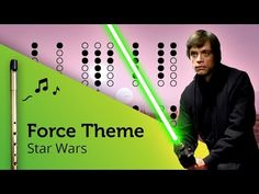 Force Theme (Star Wars) on Tin Whistle D + tabs tutorial - YouTube