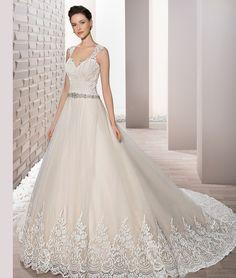 55b73d6535b5 Demetrios 2017 wedding dress cream Gorgeous Wedding Dress
