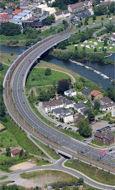 Aerial photo Rhur Bridge Bochumer Str Hattingen in Germany http://dronesuavuas.com/listing-category/aerial-photography-directory/ #aerialphotography #drones #photography #photo #travel #germany
