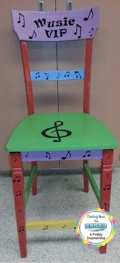 My music VIP chair for my person of the day.