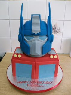 Optimus Prime Cake ...If you want free giftcards try http://www.pinterestpromotions.com/offers.php I was able to get a $100 toms giftcard for free! Repin this :)