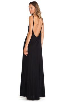 Michael Lauren Gage Deep Back Maxi Dress in Black | REVOLVE