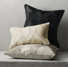 Cowhide Link Pillow
