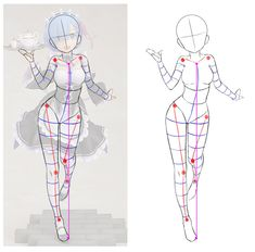 Proportions dessin fille Drawing Techniques, Drawing Tips, Drawing Reference, Cartoon Sketches, Art Sketches, Art Drawings, Sketches Tutorial, Watercolor Sketch, Drawing Studies