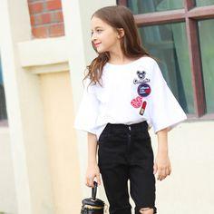 $23.98 (Buy here: https://alitems.com/g/1e8d114494ebda23ff8b16525dc3e8/?i=5&ulp=https%3A%2F%2Fwww.aliexpress.com%2Fitem%2F2016-Summer-Teenage-Baby-Girls-Clothing-Mandarin-Flare-Sleeves-T-shirts-for-Kids-Age-5-6%2F32668225197.html ) 2016 Summer Teenage Baby Girls Clothing Mandarin Flare Sleeves T-shirts for Kids Age 5 6 7 8 9 10 11 12 13 14T Years Old Clothes for just $23.98