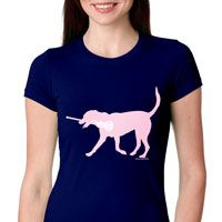 Lacrosse Fitted T-Shirt Lexi the LAX Dog