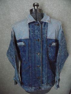 TRUE Vintage East West Era Denim Jacket #ACIDWASHED naturally distressed #jeanjacket