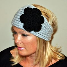 Crochet HEADBAND Ear warmer - would love this for the girls. Too cute. But..can't crochet. LOL