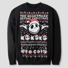 Disney® Boys' The Nightmare Before ChristmasSweatshirt - Black : Target