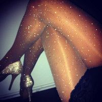 dazzling crystallized sheer tights by dbleudazzled by dbleudazzled