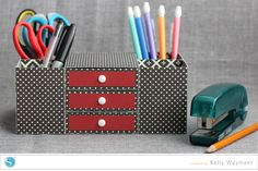 Desk Organizer by Kelly Wayment for Silhouette