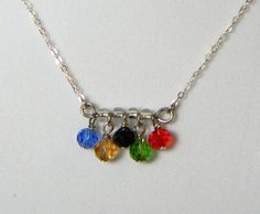 Olympics Charm Centered Necklace  Sports and by SammysBeadworks, $12.00