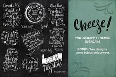 Photography Themed Overlays - Graphics #lettering #vintage #overlay #quote #love #photo #handmade #DIY #photoshop #png #greeting #card #vector #photobook