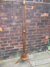 Retro Vintage 1960s Solid Wood Standard Lamp