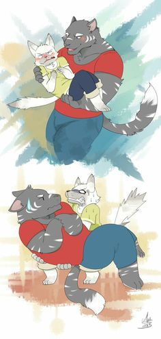 Illustration by gum syrup. I'm not good at English. If I make a mistake with my English, please correct me. Cute Couple Art, Furry Wolf, Furry Art, Amor Animal, Furry Comic, Fanart, Concept Art, Character Design, Beast