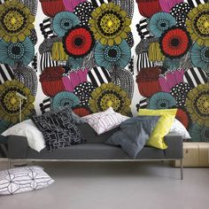 Mural by Marimekko   NewWall exclusively distributes Marimekko in North America. Start creating your space: www.newwall.com
