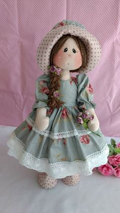 Rag dolls Handmade doll Fabric doll Tilda doll Rag doll Cloth Doll Red hair Made in the UK Ooak doll GRACE inches tall Doll Clothes Patterns, Doll Patterns, Baby Patterns, Diy Doll Pattern, Peacock Crochet, Effanbee Dolls, Realistic Dolls, Fabric Toys, Diy Crafts For Gifts