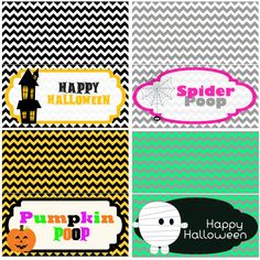 Halloween Bag Topper Collage