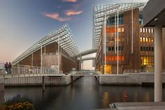 Astrup Fearnley Museum by architect Renzo Piano, Tjuvholmen ('Thief Island') art district, Oslo, Norway #architecture