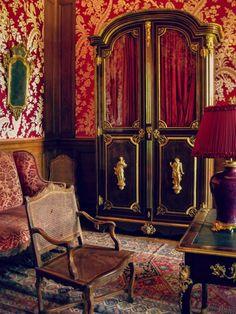 The Red Salon- Chateau Champs-sur-Marne