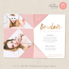 Boudoir Marketing Template Pink Copper Mini by StudioStrawberry