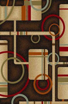 Area Rug Geometric Black Rubber Back Non-Skid (Non-Slip) 2'X3' 2'X7' 3'X5' 5'X7' #HomeWood #ArtsampampCraftsMissionStyleCottageCountryCountry