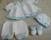 "Sale Item!! Baby Boy Set for Newborn Baby Boy or 18/20"" Reborn Doll, Handmade 4 Piece"